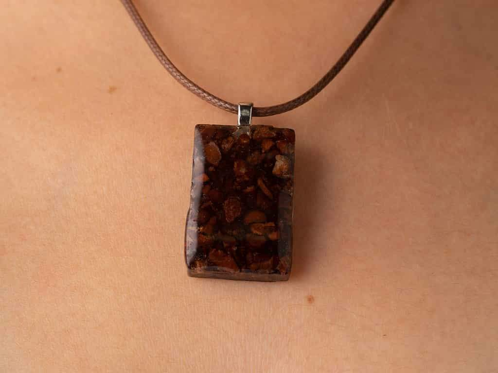 Chocolate nibs necklace