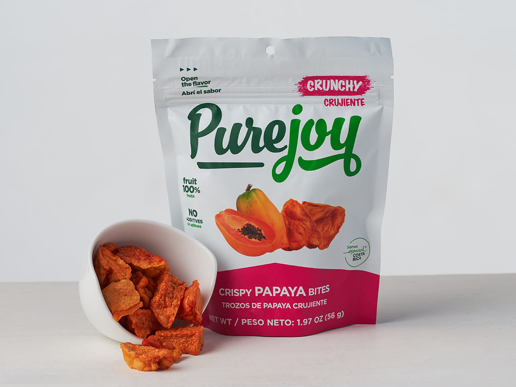 Buy Crispy Papaya Bites - see available sizes from Pure Joy available at Local Keeps from Costa Rica