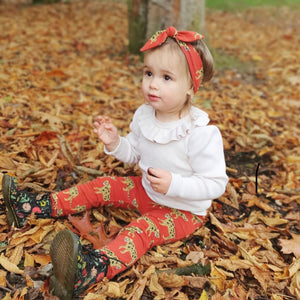 Burgundy Leopard Baby & Child Leggings