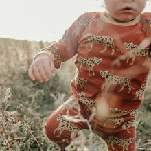 Load image into Gallery viewer, Burgundy leopard (Mustard Cuffs) Baby & Child Sweater
