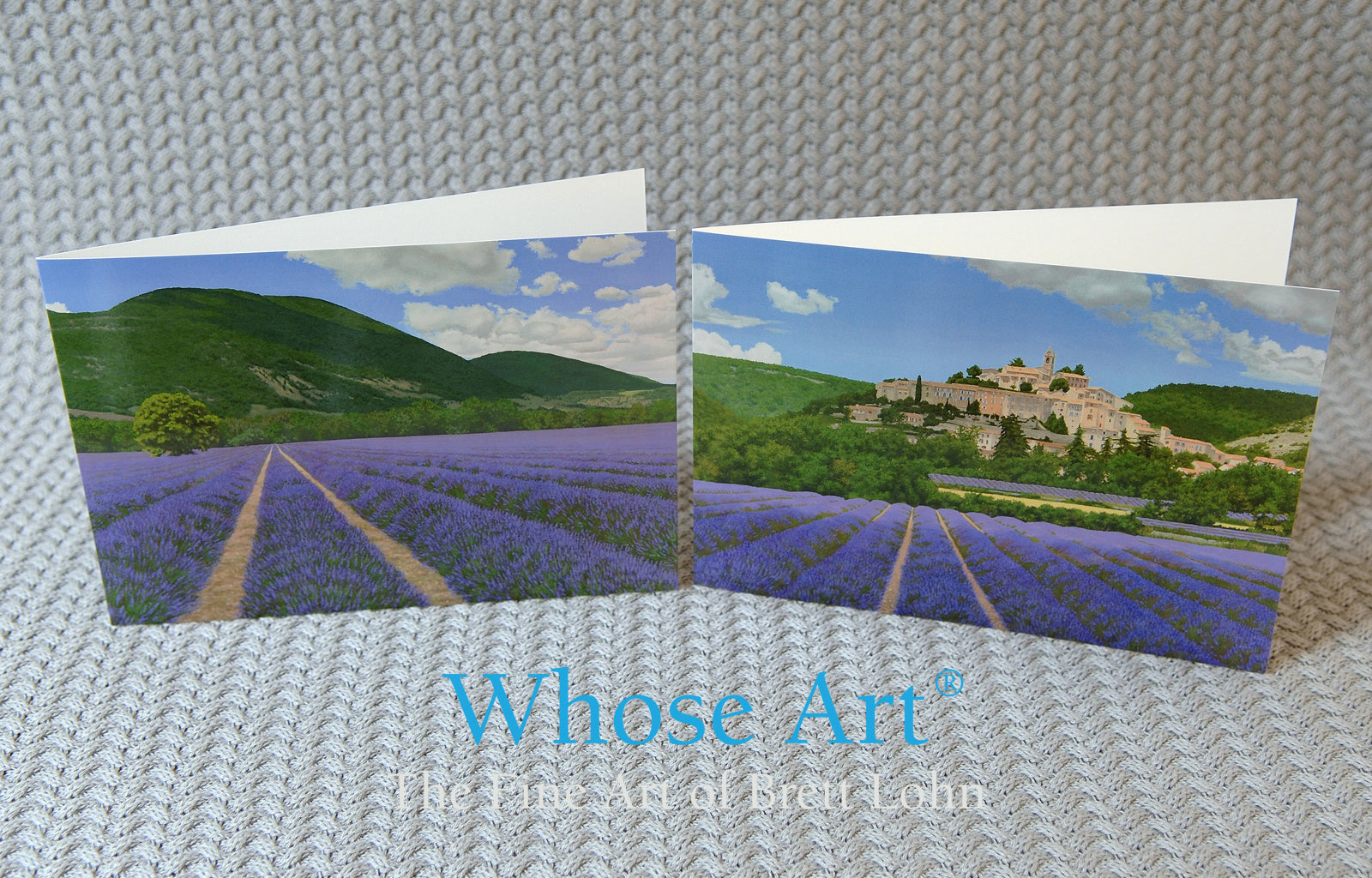 Provence Lavender painting Fine Art greeting cards