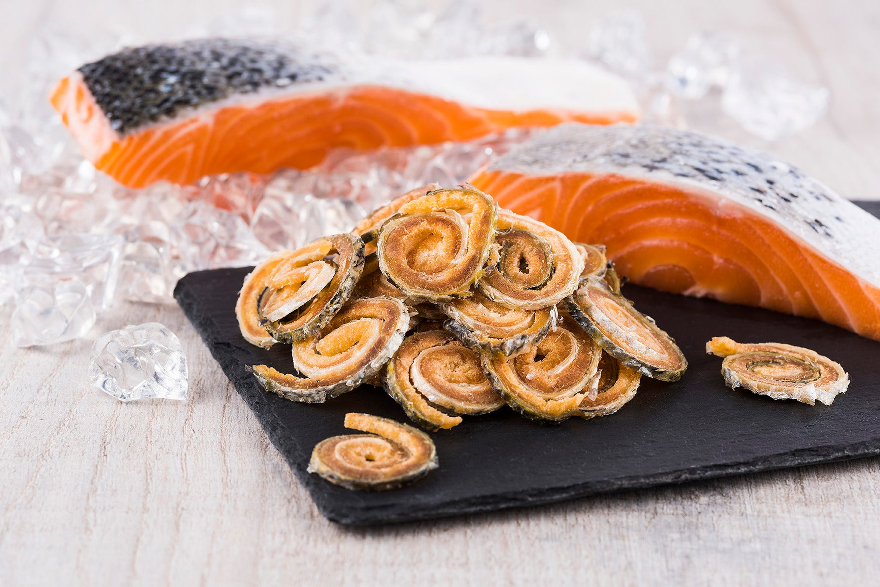 Freeze-dried Raw Salmon Skin Twirls
