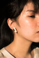 Vintage Gold Tone Clip-On Enamel Earrings