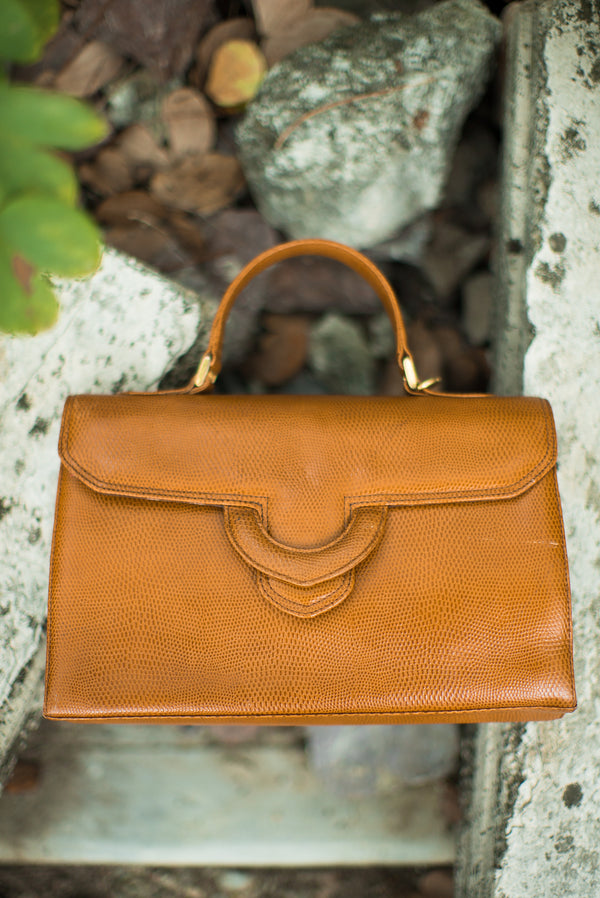 Vintage Leather Satchel Hand Bag