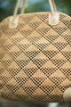 Vintaga Leather and Weave Shoulder Bag