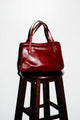 Rich Red Leather Shoulder Bag
