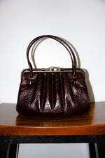 Vintage Leather Handbag in Chocolate