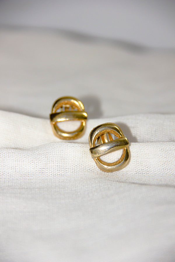 Vintage 1980s D'Orlan Signed Clip-On Earrings
