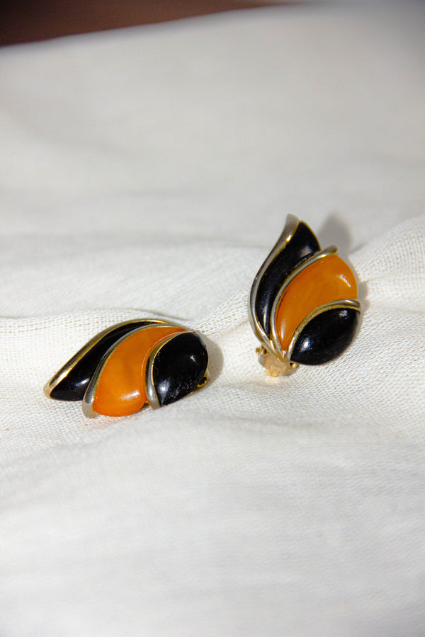 Vintage 1960s Vendome Signed Clip-On Earrings