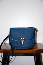 Genuine Horse Hair Italian Leather Saddle Bag