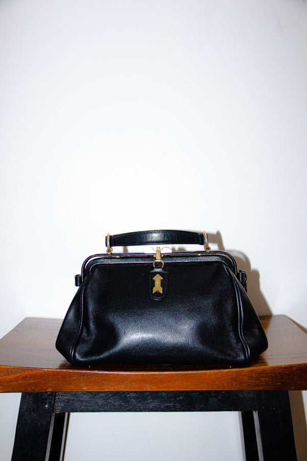 Vintage 1990s Gold Pfeil Leather Oxford Satchel