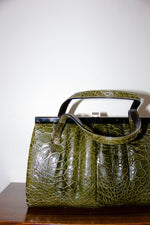 Vintage Croc Leather Handbag
