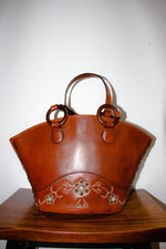 Vintage Anna Sui Leather Shopper Bag