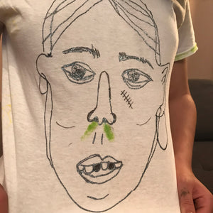 Glitter snot tee by Jo Rosenthal