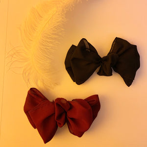 Double sheer bow barrette