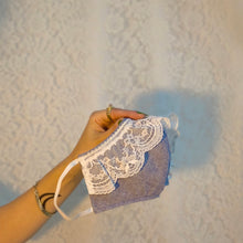 Chambray lace mask
