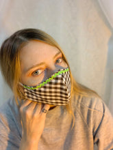 Handmade gingham face mask