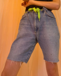 Neon belt grommet short