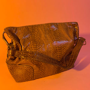 Snakeskin hardware bag