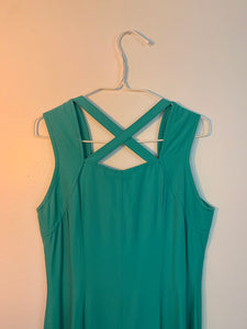 Aqua 90's button down dress