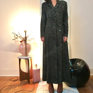 Paisley maxi blazer dress