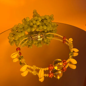 Puka beaded necklace
