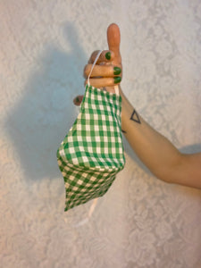 Gingham green deadstock mask