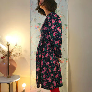 Floral 80's puff dress