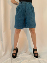 Charcoal suede Pleated shorts