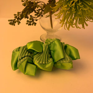 Satin gathered 80's barrette