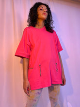 Neon chain belt tee dress