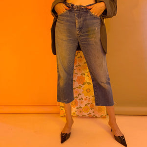 Safety pin fold over jeans
