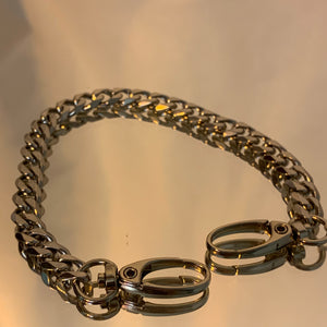 Double clamp chain anklet