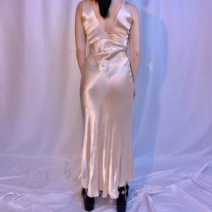 40's silk slip dress
