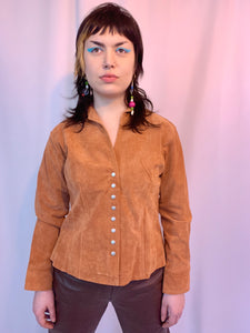 Suede clay shirt jacket