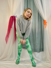Slimer tie dye tights