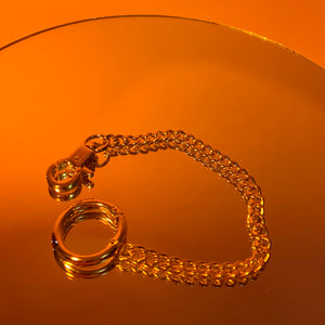 O-ring clamp chain anklet
