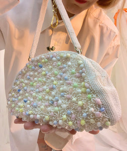 Italian glass beaded purse