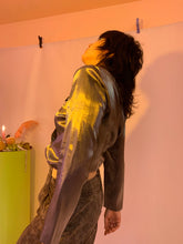 Shiny liquid shirt jacket
