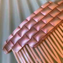 Shiny quilted comb barrette
