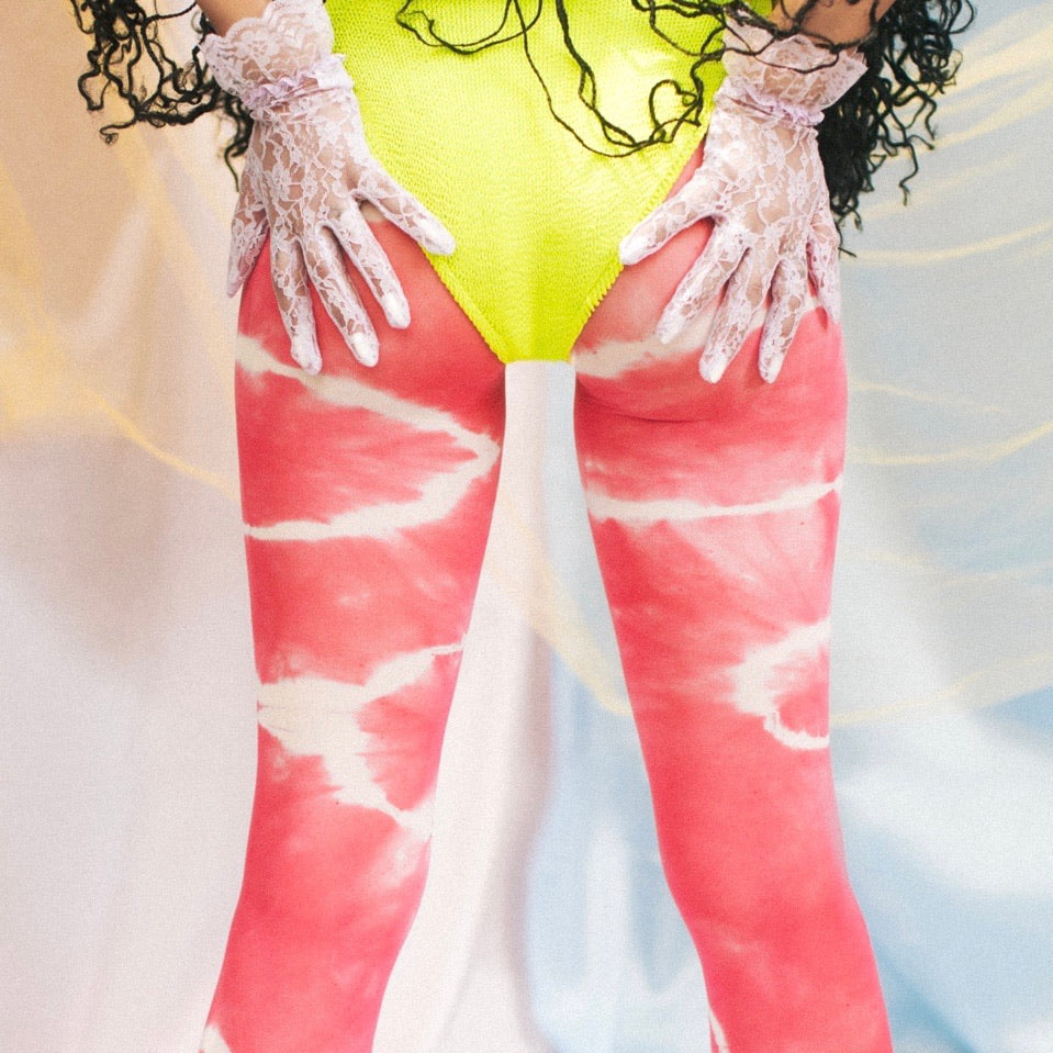 SJ X BZ tie dye tights