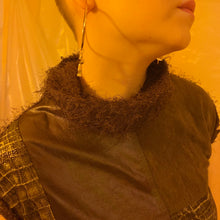 Faux leather Y2K patchwork sweater