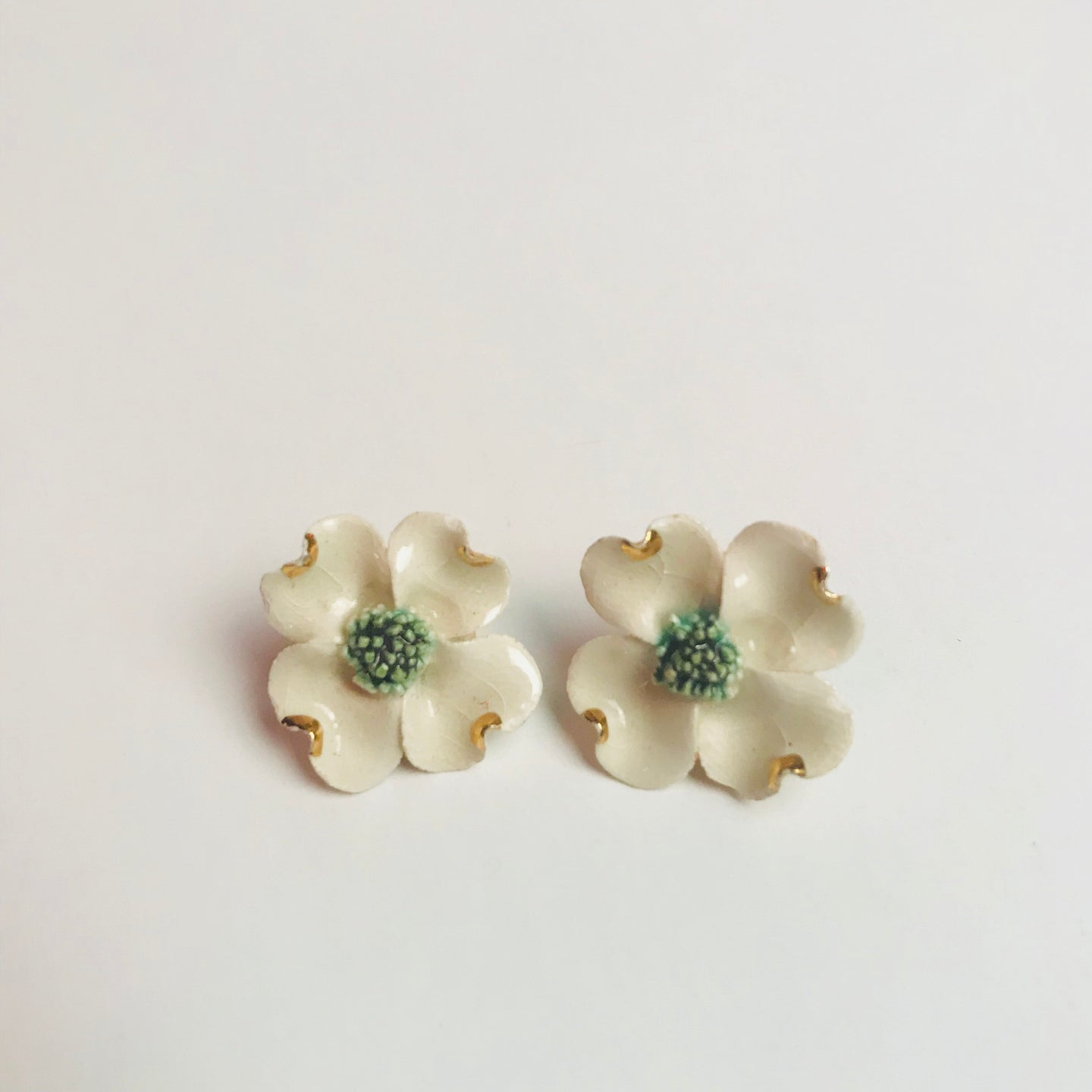 Ceramic flower earrings