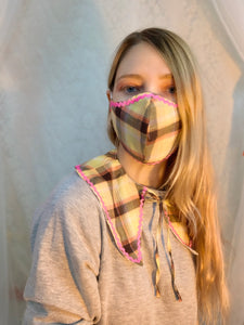 Plaid ric rac collar