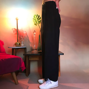 Pinstripe pleated menswear pants