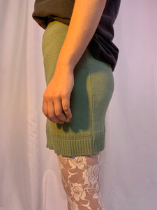 Sage sweater mini skirt