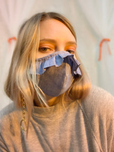 Chambray ruffle mask