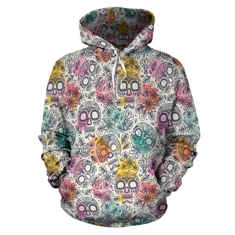 Watercolor Skull Hoodies - hoodie - Rose Skating