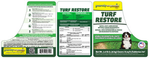 Purely Organic Products Turf Restore Grass Repair Mix with Seed & Lawn Food (3 LB - Covers 75 Sq Ft)
