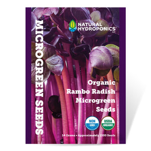 Load image into Gallery viewer, Natural Hydroponics Organic Rambo Radish Microgreen Seeds - Approx 1500 Seeds